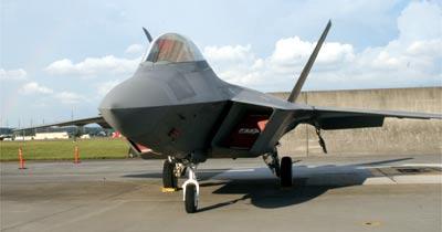 ステルス機、F-22ラプター