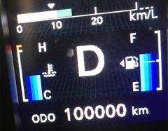 10万キロの走行車