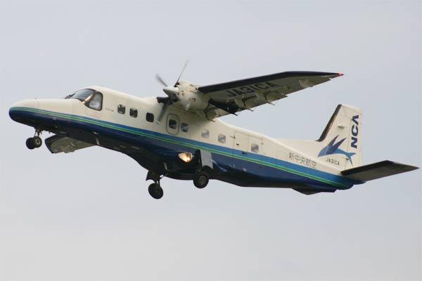 新中央航空 ドルニエ 228-212 NG 飛行中