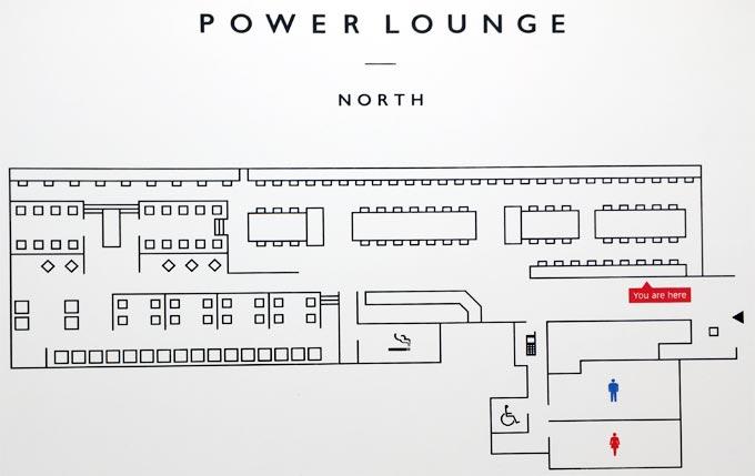 羽田空港 第2ターミナル POWER LOUNGE NORTHのフロア図
