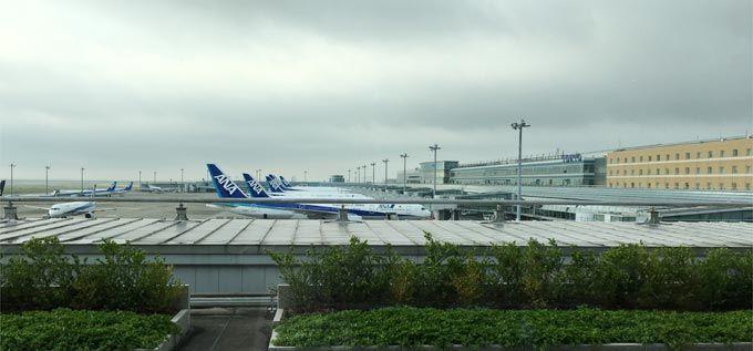 羽田空港 第2ターミナル POWER LOUNGE NORTHから見える景色