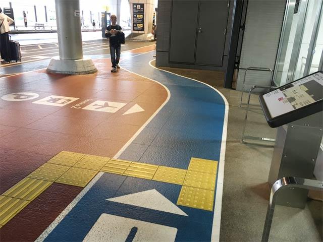 成田空港第3ターミナルまでの色分け