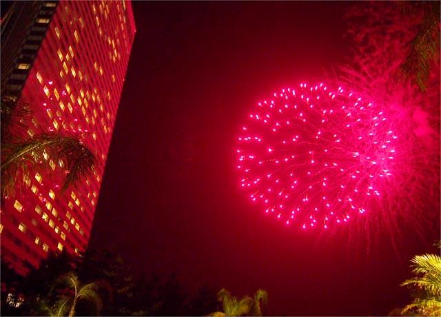 シェラトン・グランデ・オーシャンリゾートの花火