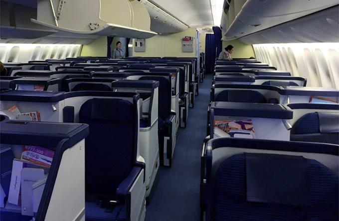 HH203便ビジネスクラスの様子