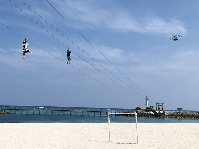 シェラトン沖縄でのジップライン