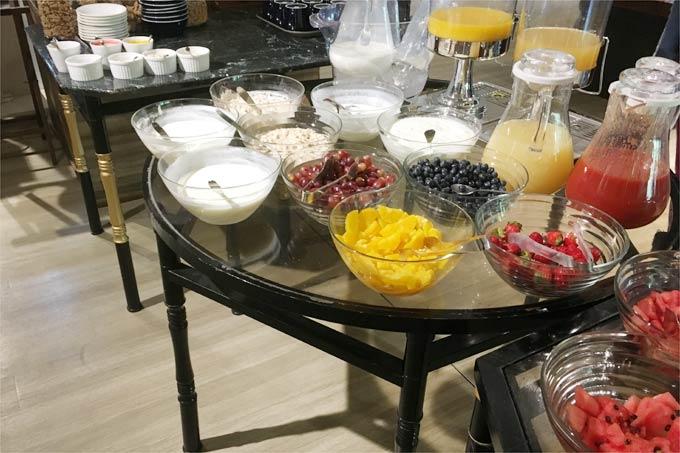 軽井沢マリオットホテルの朝食の果物類