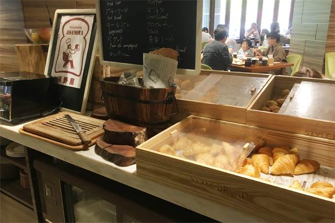 軽井沢マリオットホテルの朝食のパン類