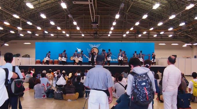 日米友好祭 太鼓の演奏
