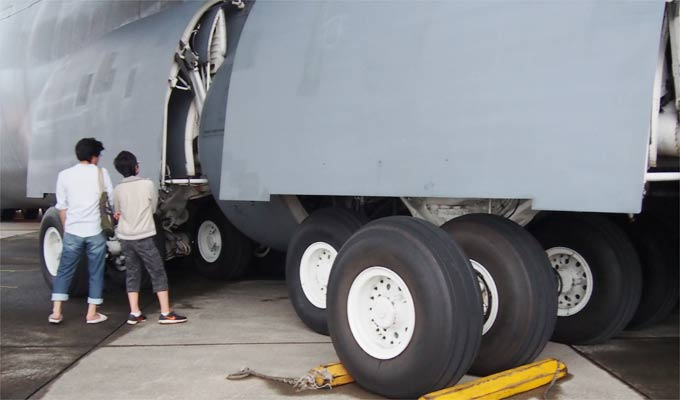C-5のタイヤの様子