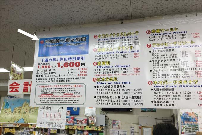 道の駅 許田でチケットを購入