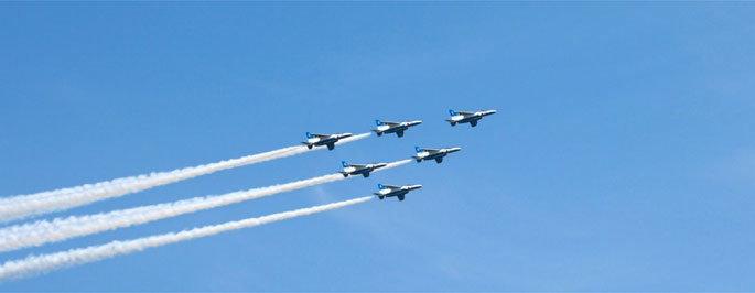 ブルーインパルス 八王子での飛行ルートは