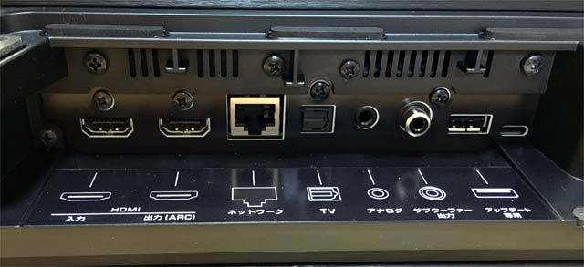 SRT-1500の背面端子