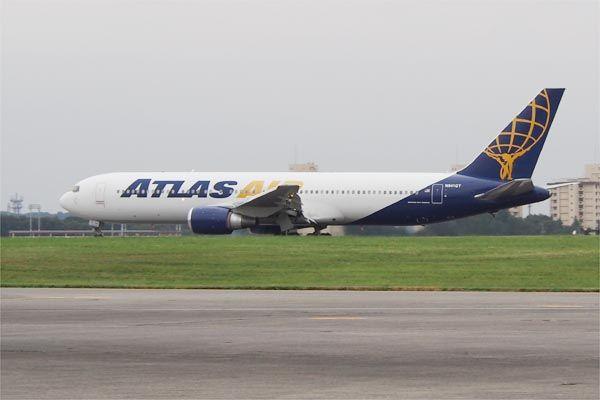 ATLAS AIRの着陸待ち