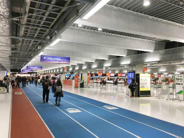 成田空港第3ターミナルの様子