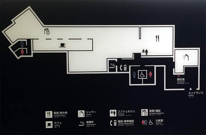 羽田空港国際線 ANAラウンジ フロアマップ