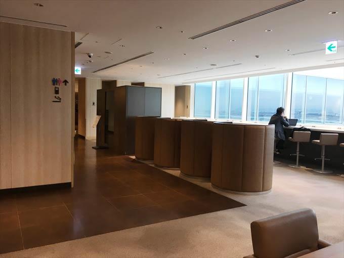 羽田空港 国際線 JALサクララウンジ 5階の様子