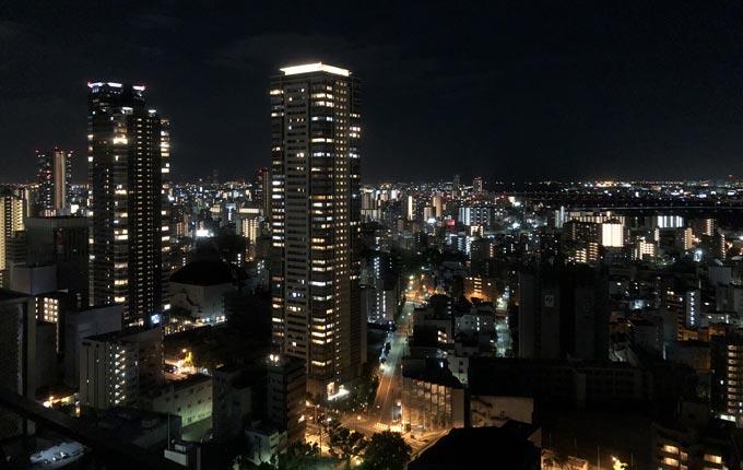 ウェスティンホテル大阪からの夜景
