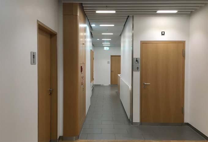 ルフトハンザ航空 ビジネスラウンジのトイレとシャワー