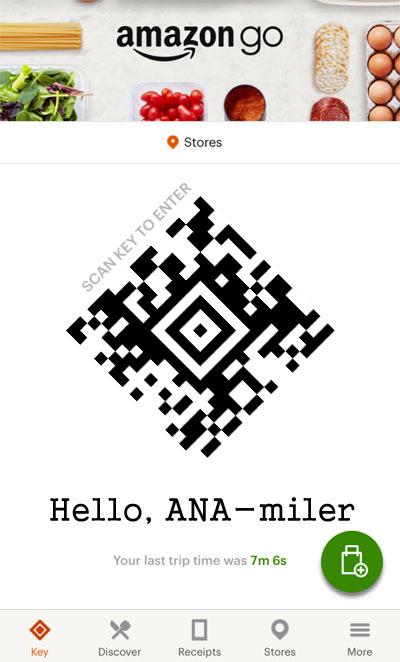 Amazon Goアプリに表示されるコードで入店