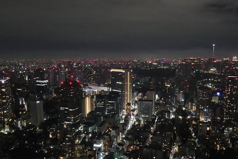 リッツカールトン東京客室からの夜景
