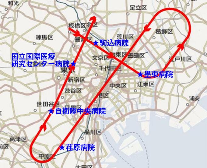 2020年5月29日ブルーインパルス東京都心飛行経路