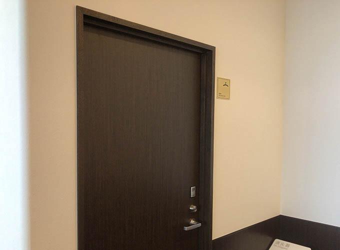 長崎県・長崎空港 ビジネスラウンジ「アザレア」の更衣室