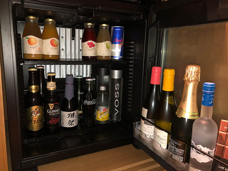 リッツカールトン京都 冷蔵庫