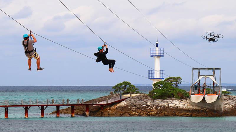 有吉の冬休みでも紹介されたジップラインは、シェラトン沖縄(パンザ沖縄)