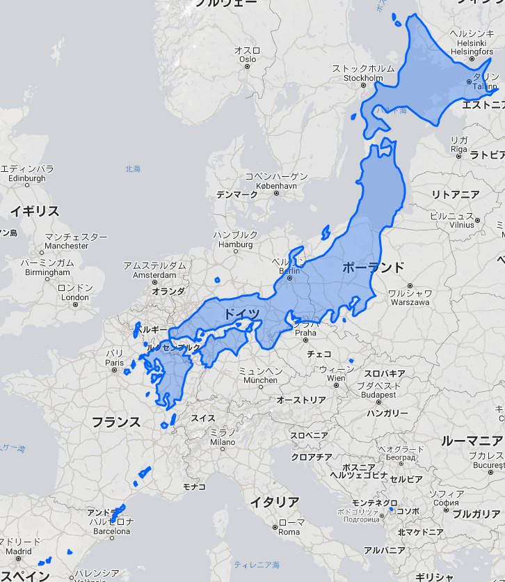東西南北に長い日本の国土