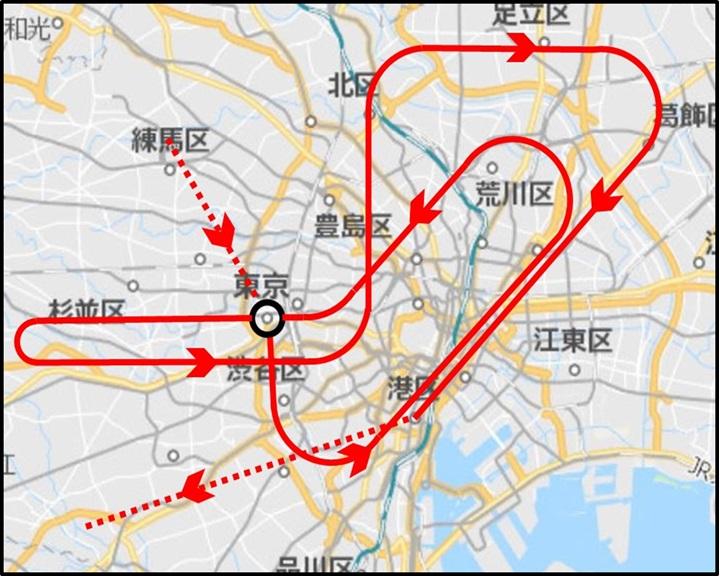 2021年7月23日 東京オリンピック 開会式当日のブルーインパルス